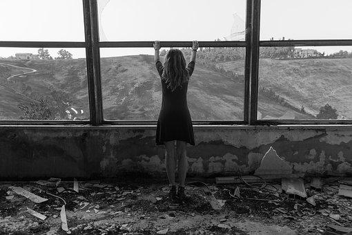 People, One, Window, Abandoned, The Loneliness, Adult