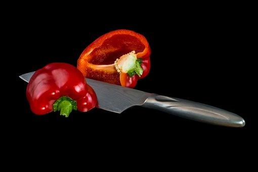 Food, Knife, Cook, Paprika, Vegetables, Nature