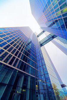 Office, Glass, Architecture, Skyscraper, Futuristic