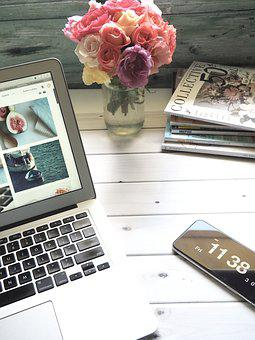 Laptop, Computer, Business, Technology, Paper, Internet