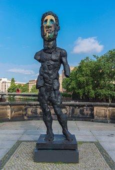 Statue, Sculpture, Travel, Art, Monument, Berlin