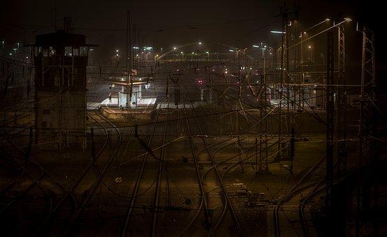 Train, Railway Station, Night, Seemed, Platform