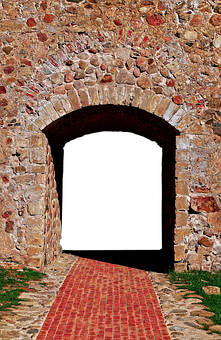 Wall, Natural Stones, Passage, Archway, Stone Wall