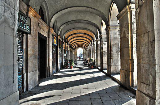 Architecture, Travel, Arch, Street, Building, Arcade