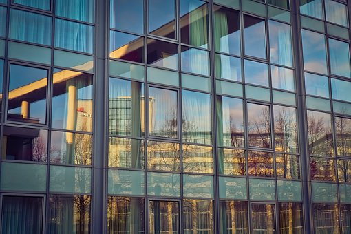 Glass, Window, Architecture, Reflection, Office, Facade