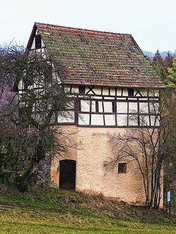 Barn, Truss, Aussiedlerhof, Farm, Hamlet, Building