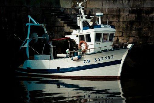 Body Of Water, Boat, Sea, Ship, Port, Honfleur, France