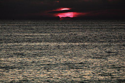 Water, Nature, Ocean, Sunset, Dark, Desktop, Sea, Color