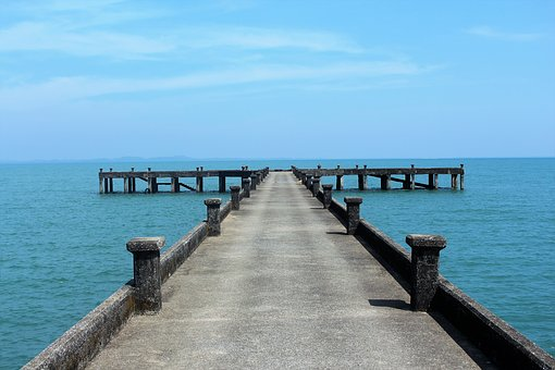 Water, Sea, Jetty, Pier, Beach, Sky, Seashore, Ocean