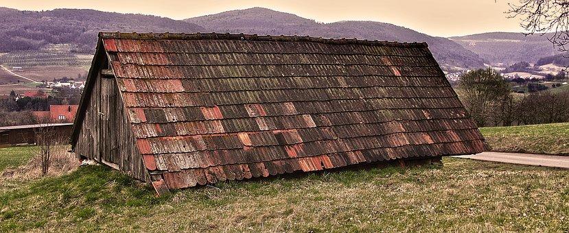 Field Barn, Tile Roof, Roof, Storage Cellar
