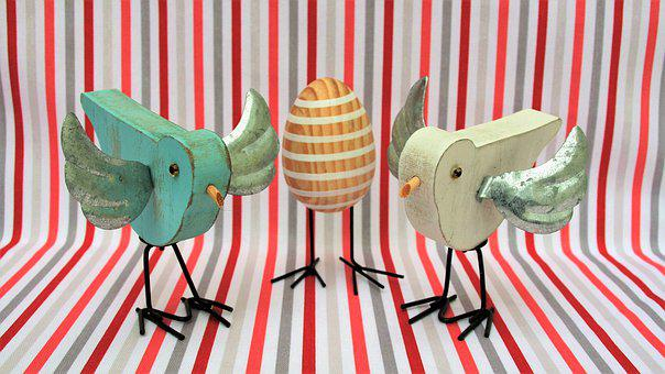 Birds, Wooden, Egg, Strips, Wings, Bird, Fun