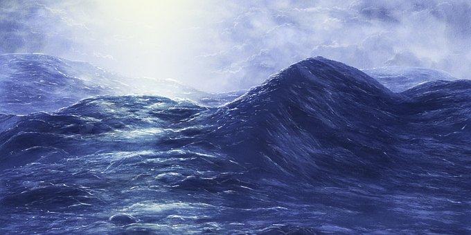 Blue, Water, Ocean, Sea, Nature, Image, Waves