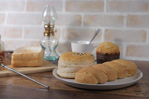 Food, Table, Refreshment, Sweet, Bread, Wood, Plate