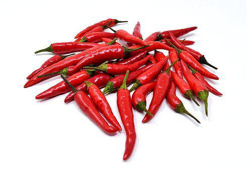Chili, Superscharf, Red, Edible, Sharp, Pods, Pepperoni
