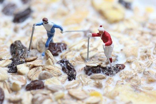 Muesli, Nordic Walking, Miniature Figures, Food