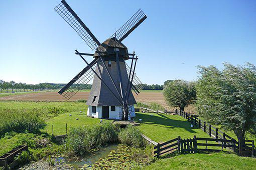 Wind Mill, Farm, No Person, Outdoor, Landscape