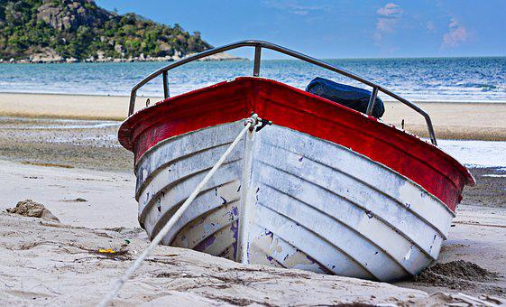 Ship, Beach, Boat Parking, Thailand Beach, Nature