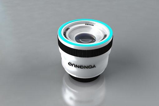 3d Modeling, Lens, Camera, Reflex