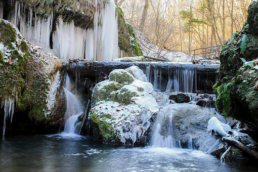 Icicle, Body Of Water, Waterfall, Stream Nature