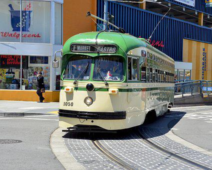 Vehicle, Transportation System, Bus, Car, Road, Tram