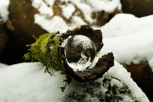 Nature, Snow, Winter, Cold, Wood, Background, Ball