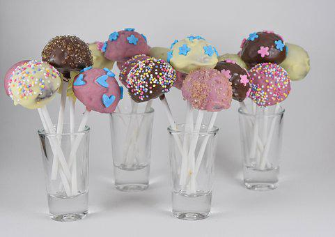 Candy, Lollipops, Cakes, Sweets, Dessert, Colored