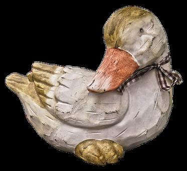 Duck, Figure, Ceramic, Garden Figurines, Sculpture, Art