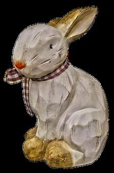 Hare, Figure, Easter, Ceramic, Garden Figurines