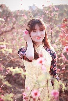 Nature, Beautiful, Girl, Flower, Summer, Outdoors
