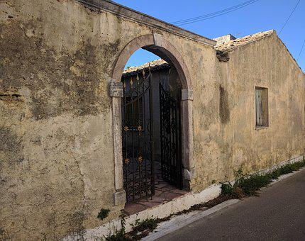 Architecture, Arch, Old, Wall, Greece, Corfu, Exterior