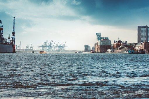 Hamburg, Hanseatic City, Elbe, Landungsbrücken