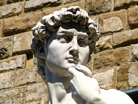 David, Statue, Stone, Sculpting, Old, Florence, Italy