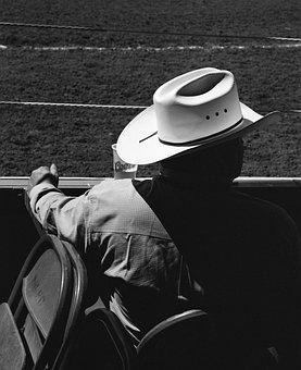 People, Adult, Man, Veil, Lid, Cowboy Hat, Rodeo