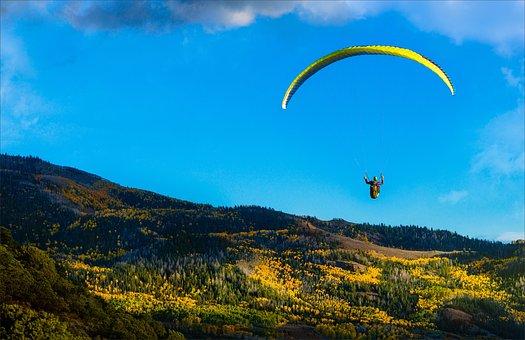 Sky, Outdoors, Nature, Travel, Mountain, Parachute, Air