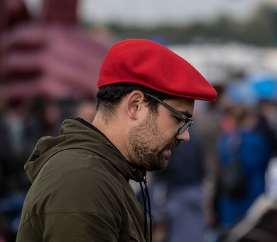 Human, Adult, Man, Portrait, Clothing, Cap, Red
