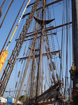 Ship, Sailing Boat, Dew, Travel