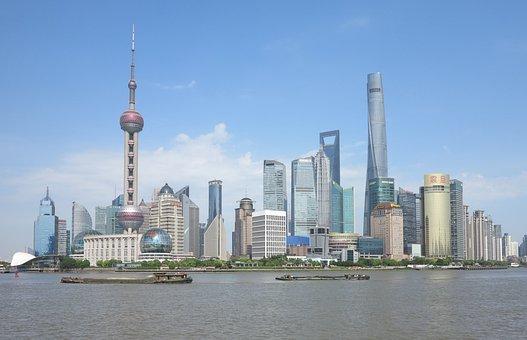 Architecture, City, Sky, Skyscraper, Skyline, Shanghai