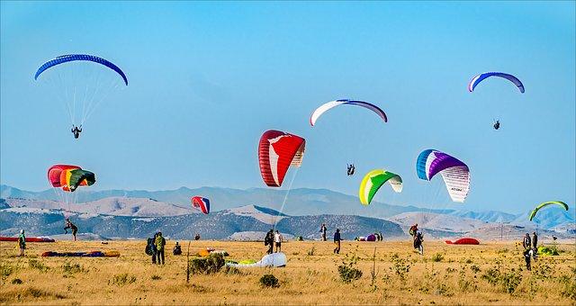 Parachute, Sky, Air, Flying, Paraglider, Pixbay