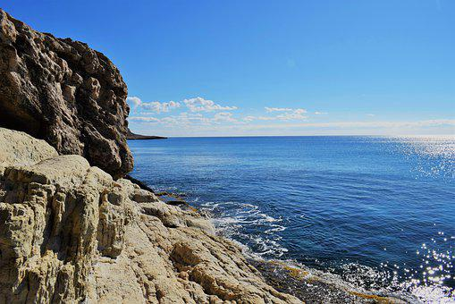 Rocky Coast, Formation, Sea, Seashore, Sky, Nature