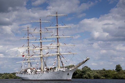 Sailing Ship, Ship, The Ship, Boat, The Sail