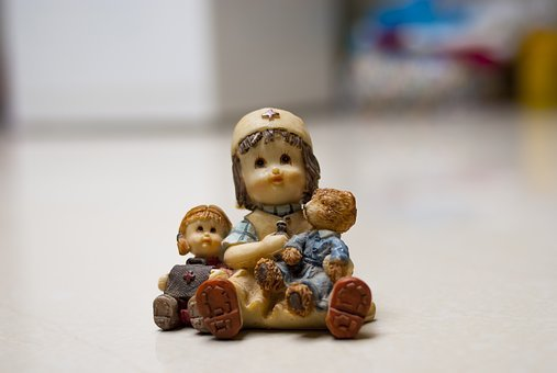 Ornament, Small, Traditional, Nurse With Bear