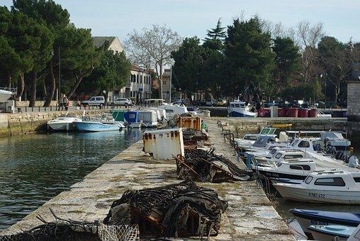 Water, Harbor, Boat, Sea, City, Novigrad, Istria