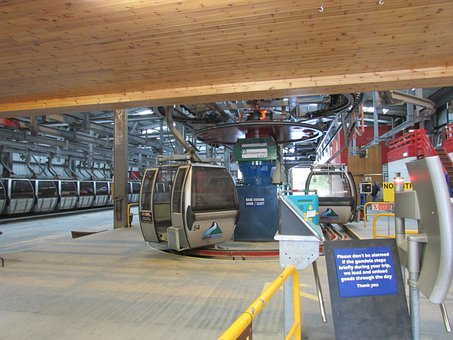 Ski Lift, Gondola, Base Station, Aonach Mor, Ski