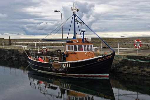 Boat, Fishing Boat, Fishing, Sea, Reflection, Water
