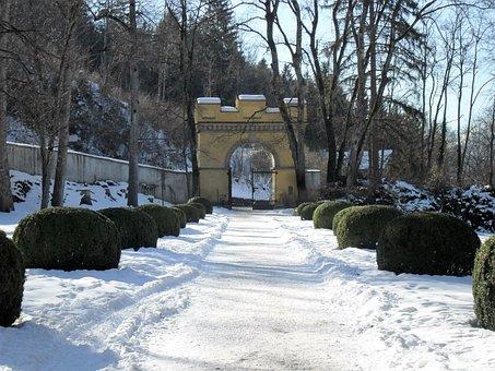 Snow, Door, Entrance, Winter, White, Season, Nature