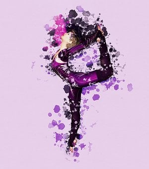 Dancer, Background, Spray, Splashes Of Color, All