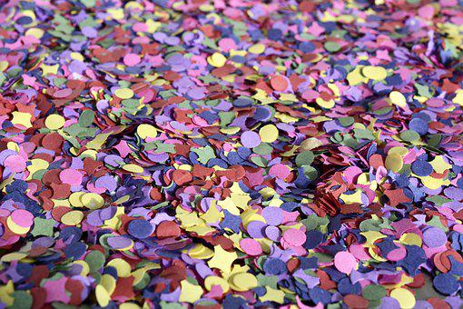 Confetti, Flakes, Color, Pattern, Background, Bright