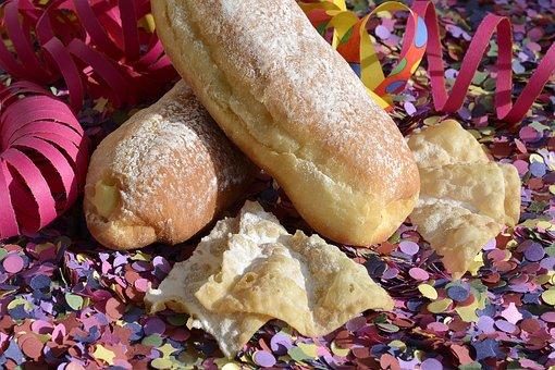 Carnival Cakes, Berlin, Vanilla Cream, Carnival, Food