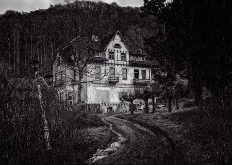 Home, Night, Lost Places, Mystical, Gespenstig, Gloomy