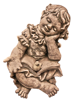 Figure, Girl, Book, Sitting, Sleep, Ceramic, Read